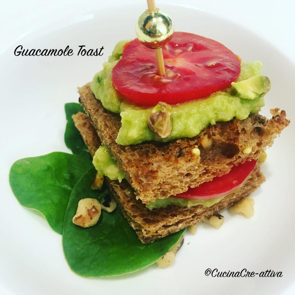 guacamole toast