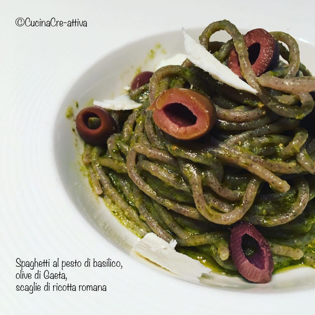 spaghettipestoolivericotta