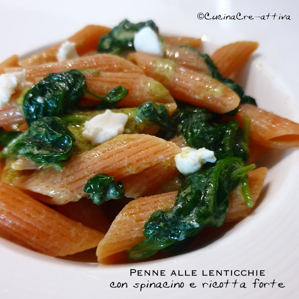 penne, spinaci, ric forte
